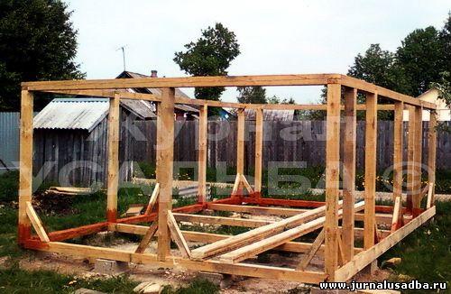 Строим гараж деревянный